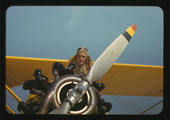Marine lieutenant with the towing plane for the gliders at Page Field, Parris Island, S.C.  (LOC) | by The Library of Congress