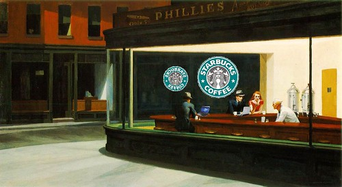 Neo-Nighthawks, after Edward Hopper | by Mike Licht, NotionsCapital.com