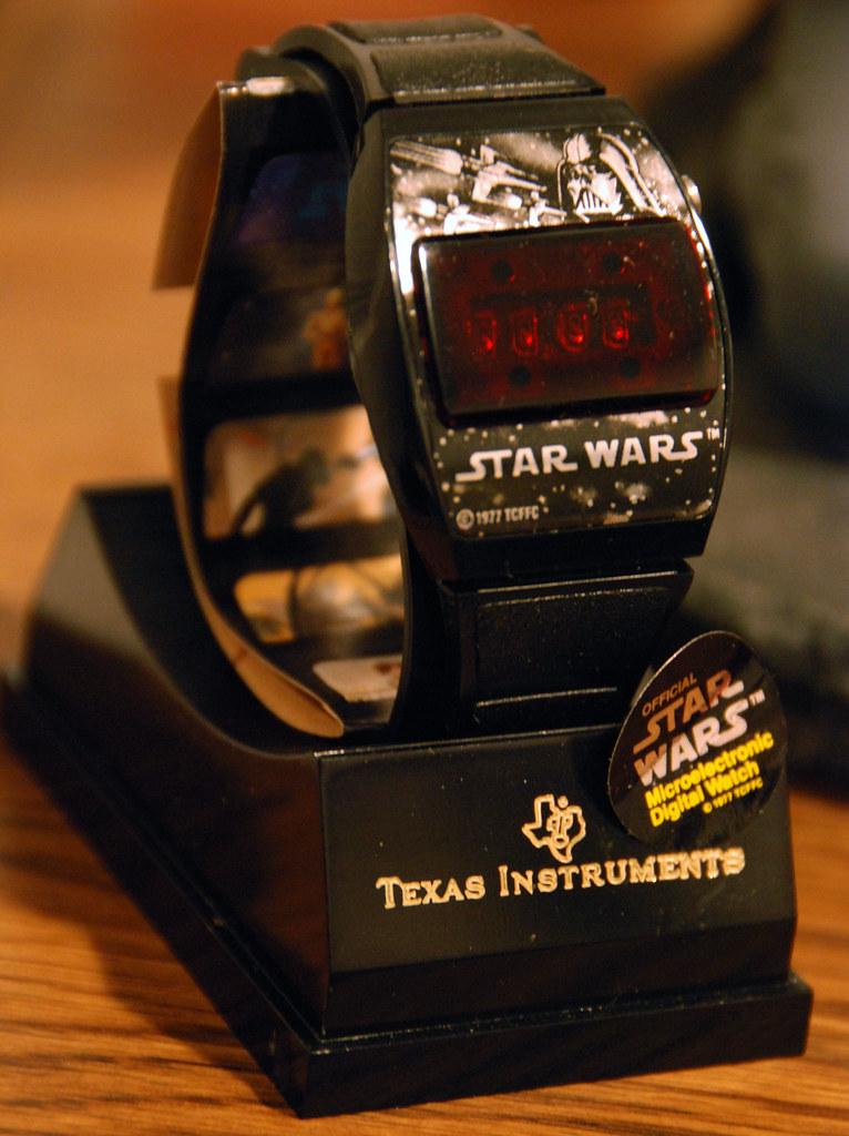star wars texas instrument digital watch 1977 when