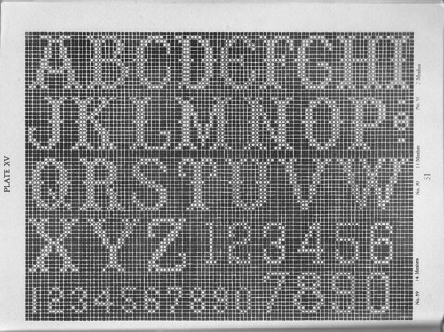 Free Crochet Pattern Letter C : filet crochet alphabet scanned from Filet Crochet by ...