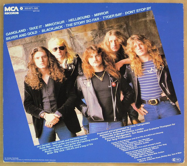 """TYGERS OF PAN TANG SPELLBOUND NWOBHM ORIG MCA 12"""" LP VINYL"""