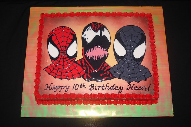 Black spiderman cakes - photo#21
