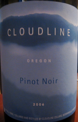Cloudline 2006 Pinot Noir front | by 2 Guys Uncorked