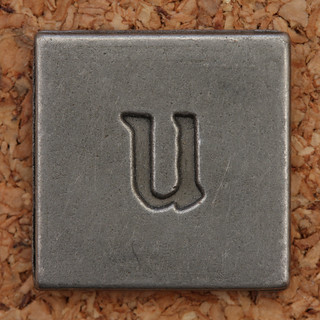 Pewter Lowercase Letter u | by Leo Reynolds