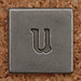 Pewter Lowercase Letter u
