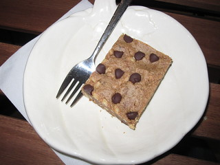 Vegan Peanut Butter and Chocolate Chip Square from Hibiscus in Toronto | by veganbackpacker