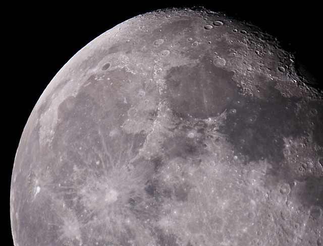 The Moon Through A Telescope Attached The D200 To A