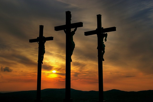 the three crosses the middle one is from jesus christ t flickr