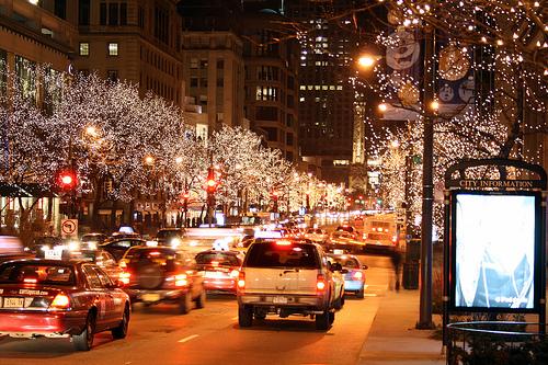 Michigan Avenue Christmas lights | ChicagoAddick | Flickr
