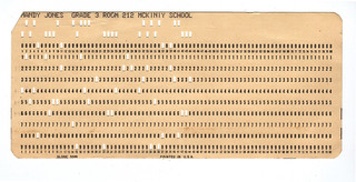 Computer punch card | by Mirandala