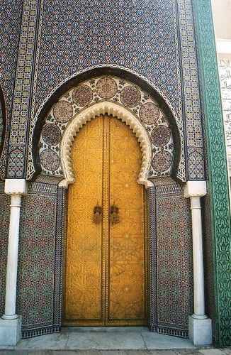 Mosque Door An Intricately Tiled Mosque Door Amp Walls In