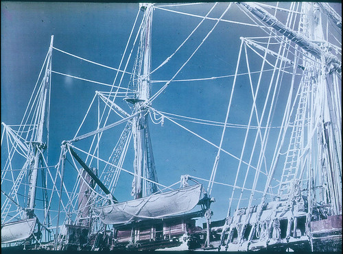 The rigging of the 'Endurance' encrusted with RIME crystals, 1915 / photographed by Frank Hurley | by State Library of New South Wales collection
