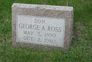Tombstone of George A. Ross | by RBrass189