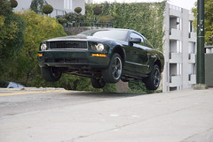 getting some air: 2008 Mustang Bullit | by susafri