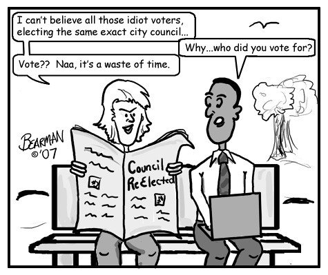 discussing voter apathy