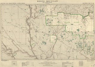 Riding Mountain Sectional Map 121 (1919) | by Manitoba Historical Maps