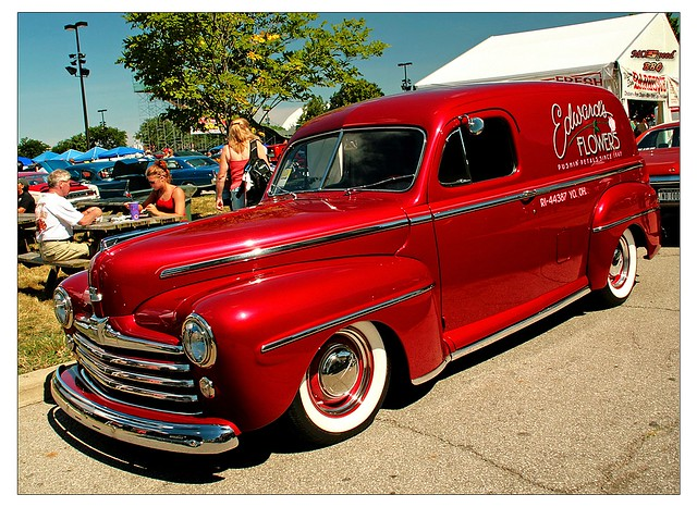 1947 ford sedan delivery photographed at the 2007 goodguys
