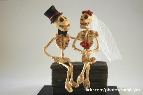 casal de caveiras para topo de bolo couple of skulls for flickr