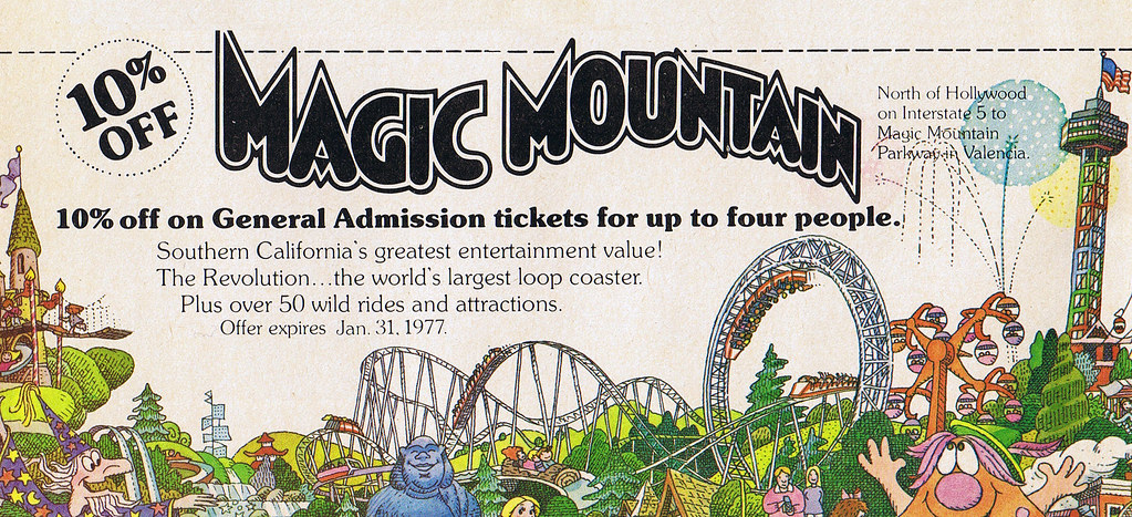 Magic mountain discount coupon 1977 there was something for Mountain house coupon code