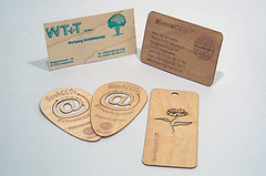 Wooden business cards are a real eye-catcher | by microwood