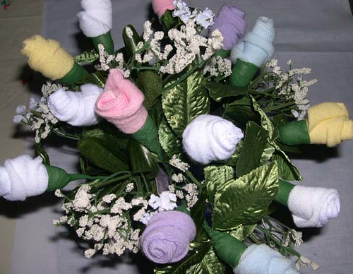 baby sock bouquet how to make