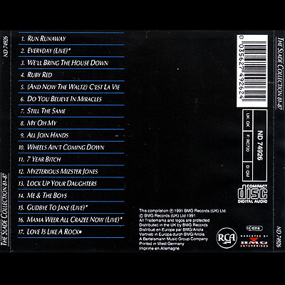 CD-The Slade Collection - Back
