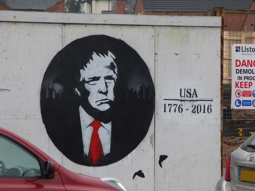 Alcester Road, Moseley - graffiti street art - USA 1776-2016