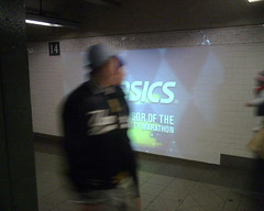 Projected ads in Union Square subway station | by newyorkannie