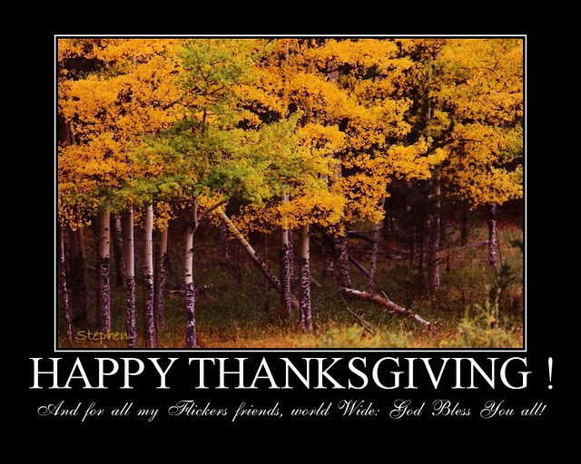Happy Thanksgiving! To Everyone | I know that it is a USA