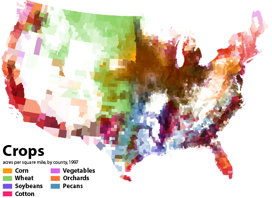 All sizes | American Agriculture Map 1: Crop Distribution | Flickr ...