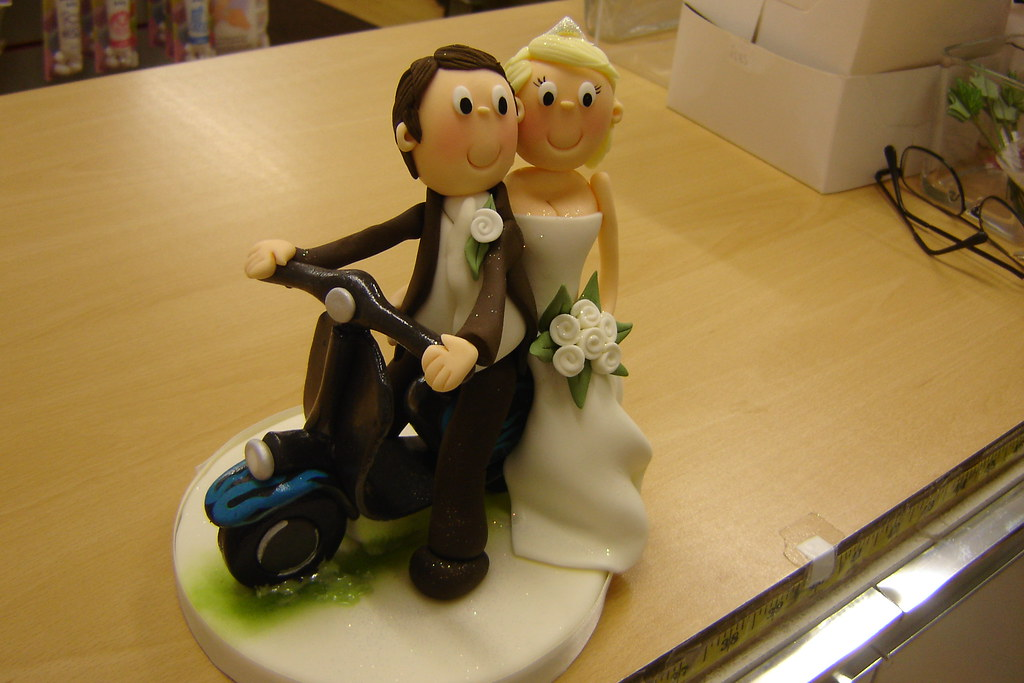 Snap Wedding cake topper scooter Etsy UK photos on Pinterest