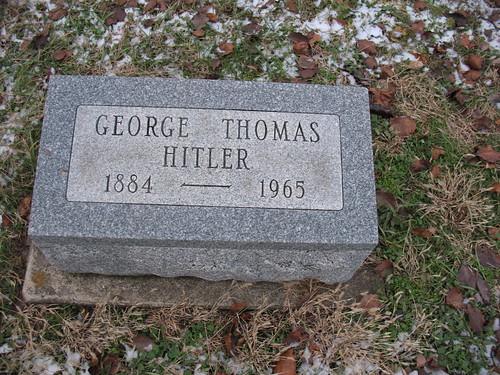 Grave Of George Thomas Hitler George Thomas Hitler 1884