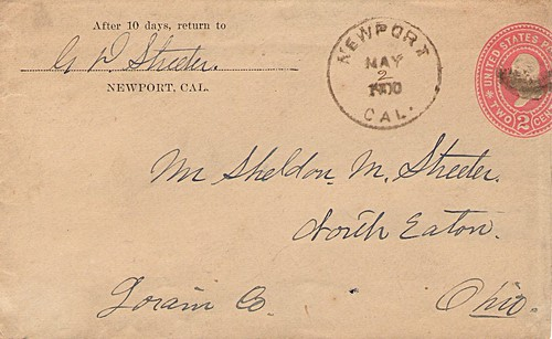 Cover Mailed From Newport, California