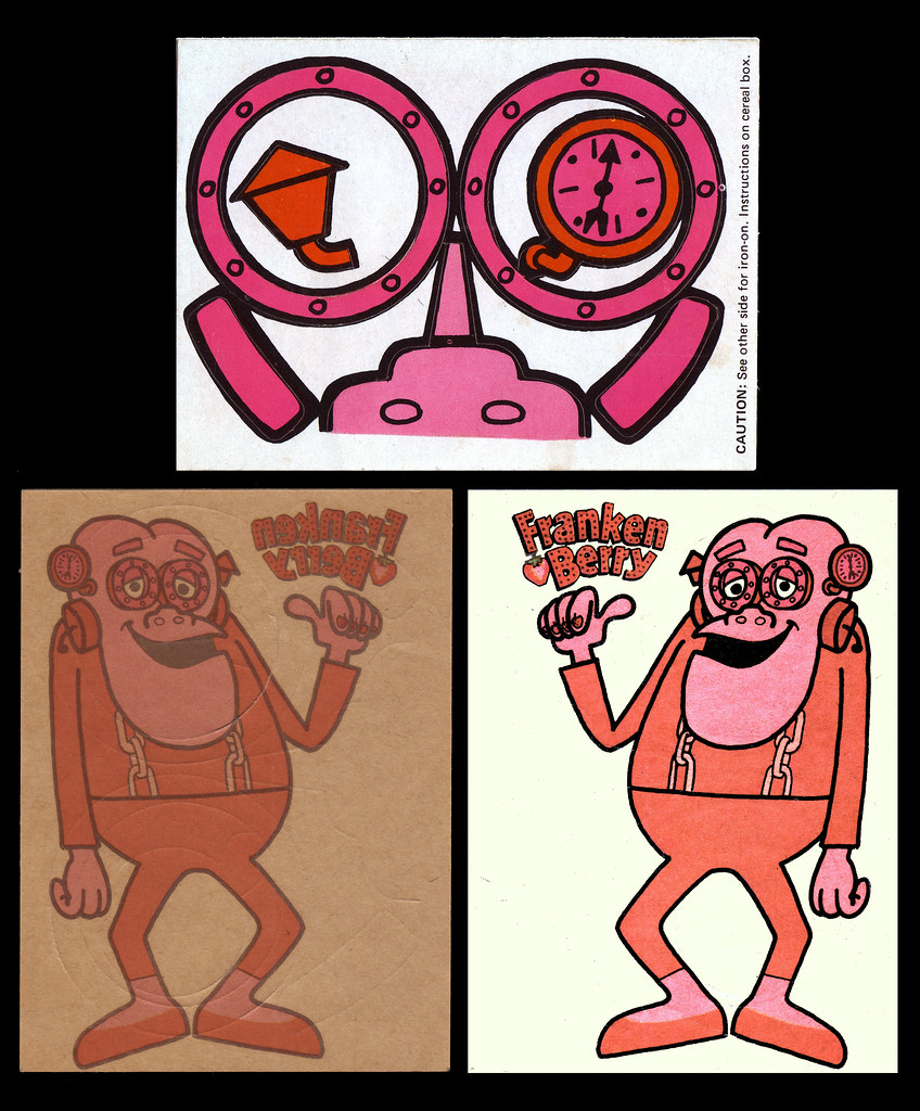 Frankenberry Make-A-Face Sticker And Iron-On Back