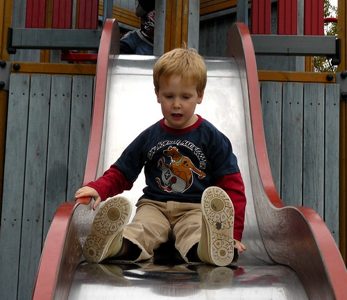 Toby on slide | by Darwin's Bulldog