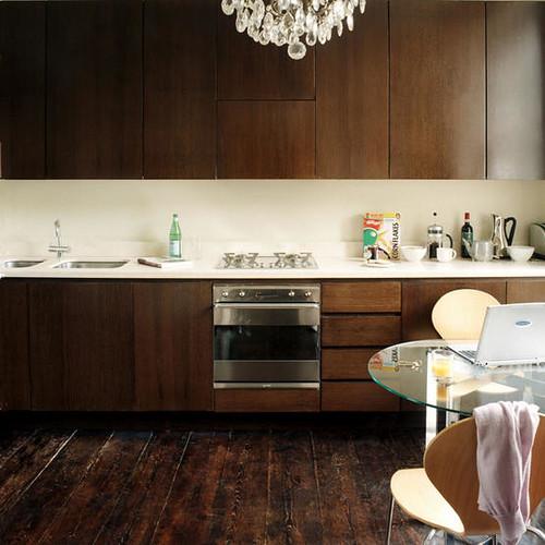 Dark wood kitchen cream kitchen dark wood fitted units for Cream and dark wood kitchens