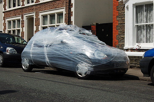 ford shrink wrap you see a car wrapped up in shrink wrap flickr. Black Bedroom Furniture Sets. Home Design Ideas