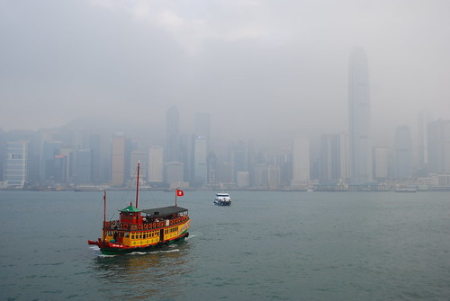 Hong Kong Skyline in Cloud | by stephenk1977