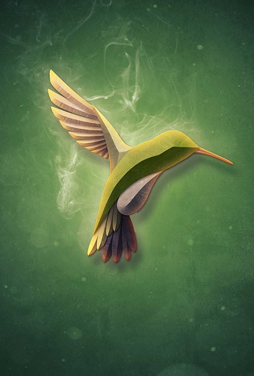 Create a surreal bird with smoke in Photoshop