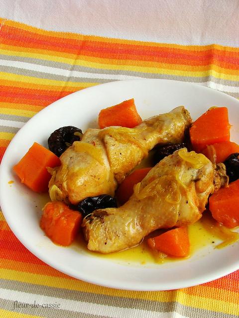 курица с бататом и черносливом 2