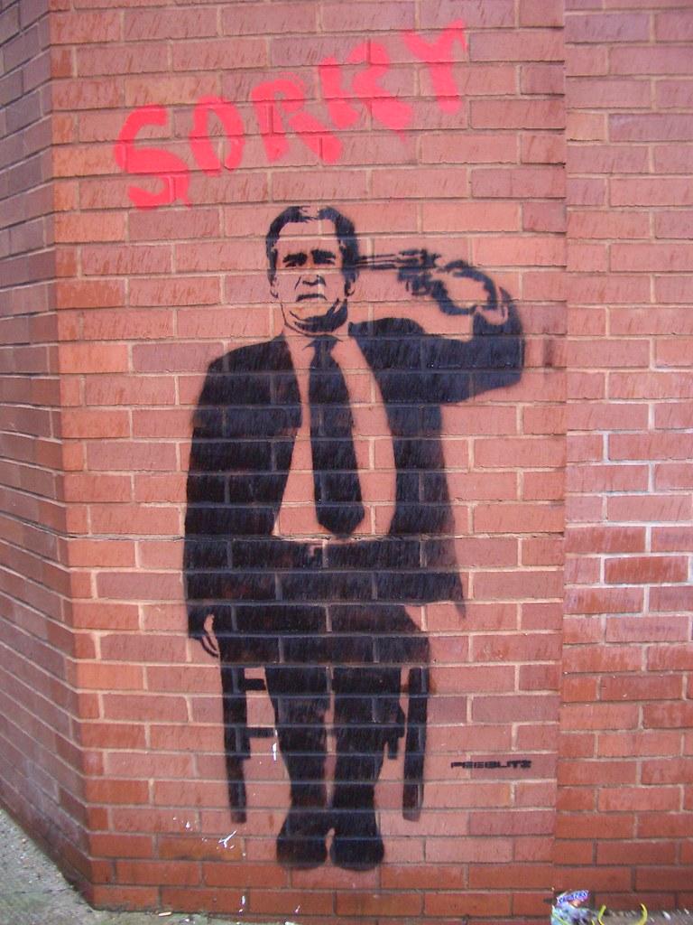 Banksy George Bush Graffiti Shoreditch This Has Been
