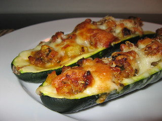 Zucchini Stuffed with Italian Sausage and Cheese | by Kevin - Closet Cooking