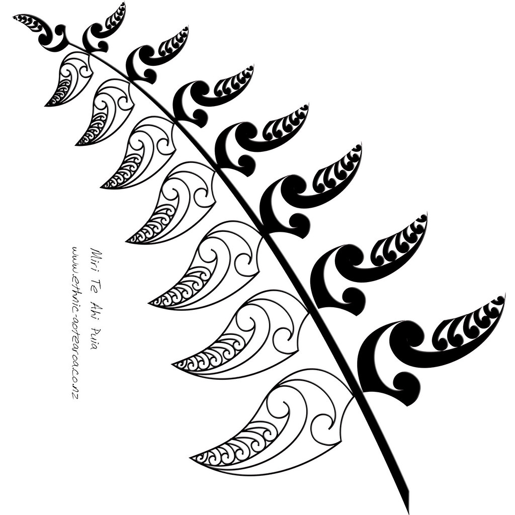 Fern Pictures Art Maori Art nz Silver Fern