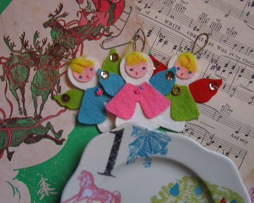 Vintage felt angel ornaments | by S.HOPtalk