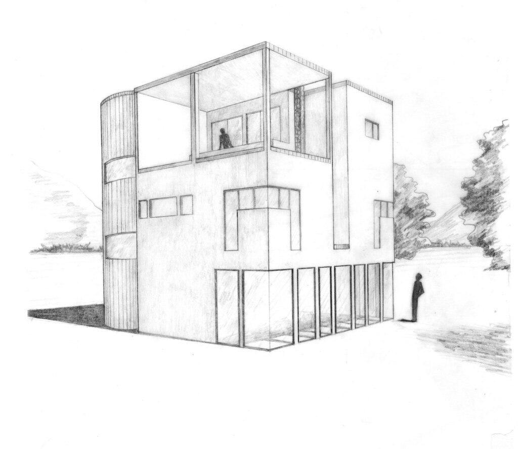 Cube house perspective anna flickr Cube house plans
