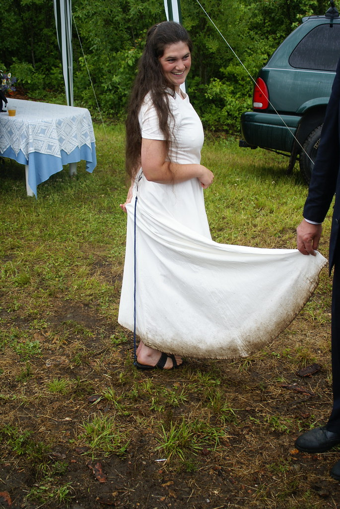 Muddy Wedding Dress It Poured Through Much Of The