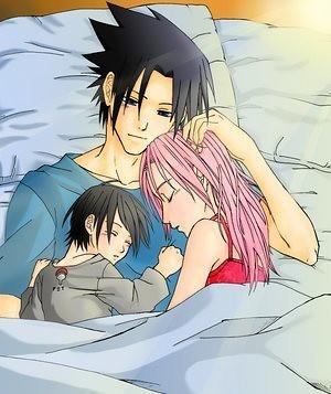 Sasuke happy with family | Well...I'm not a SasuSaku fan ...