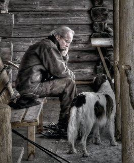 man and dog | by riisli
