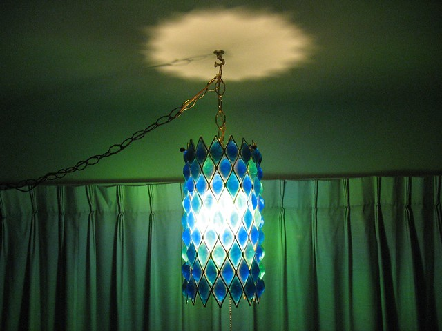 retro hanging swag lamp by atomicpdx