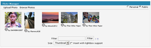 WordPress Flickr Manager v1.4.0b Browse Panel | by tgard86